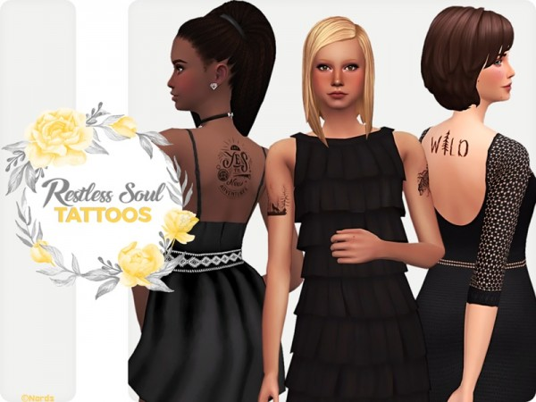 The Sims Resource: Restless Soul Tattoos by Nords