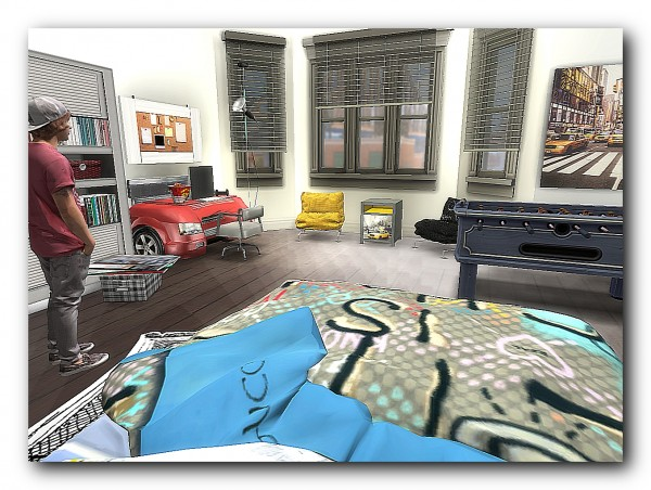 Architectural tricks from Dalila: Apartment in the style of light art