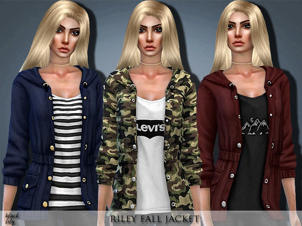 The Sims Resource: Riley Fall Jacket by Black Lily