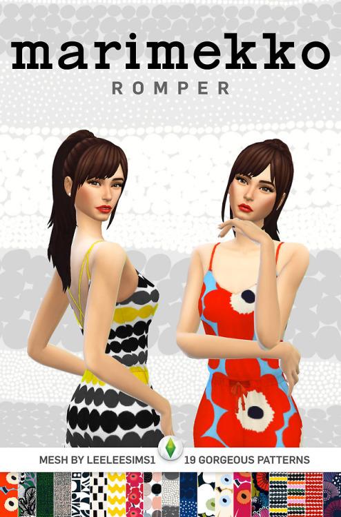 Simplistic: Marimekko Rompers
