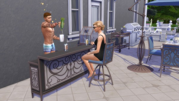 Mod The Sims: Patio Bar and Barstool by TheJim07