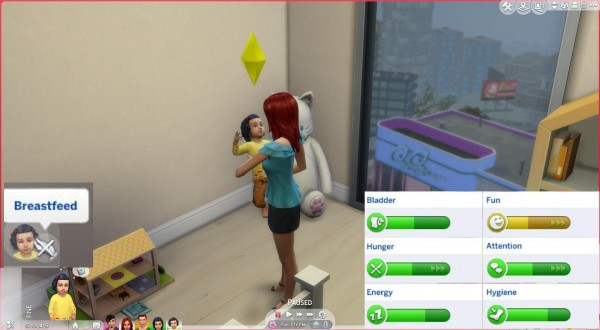 Mod The Sims: Breastfeed Toddlers by PolarBearSims