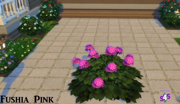 Mod The Sims: Hydrangea Flowers 16 Colours by wendy35pearly