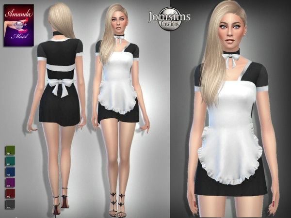 The Sims Resource: Amanda maid outfit by jomsims
