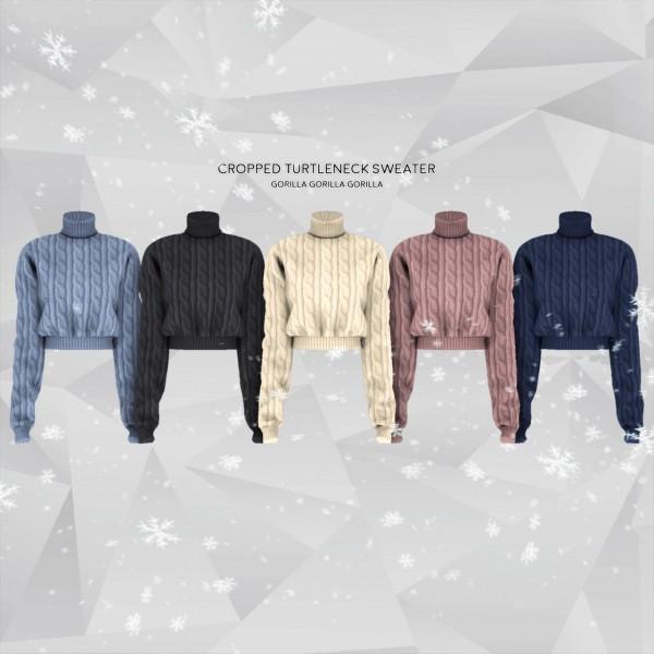 Gorilla: Cropped Turtleneck Sweater