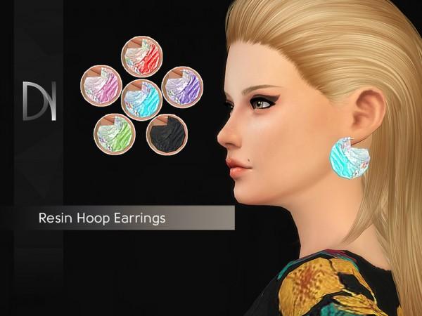 The Sims Resource: Resin Hoop Earrings by DarkNighTt
