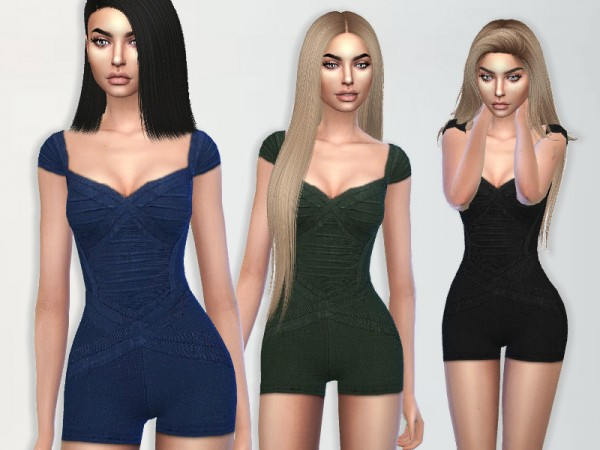 The Sims Resource: Bandage Romper by Puresim