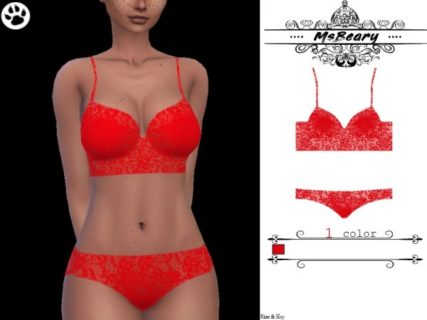 The Sims Resource: Red sleepwear by MsBeary