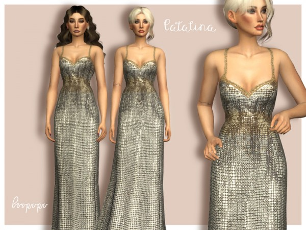 The Sims Resource: Catalina dress by laupipi