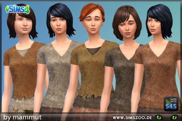 Blackys Sims 4 Zoo: Fur top 4 by mammut