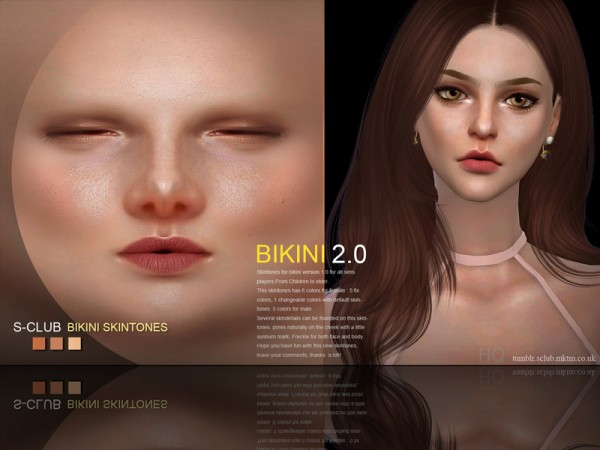 The Sims Resource: Bikini 2.0 skin by S Club