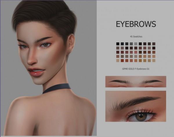 GOPPOLS Me: GOLD F Eyebrows G1 b