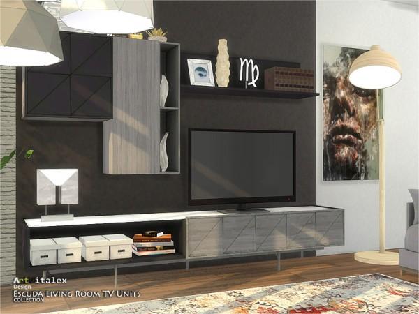 The Sims Resource: Escuda Livingroom TV Units by ArtVitalex