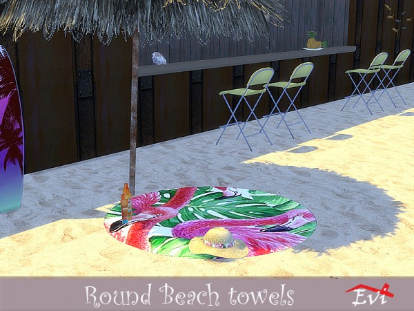 The Sims Resource: Round Beach Towels by evi