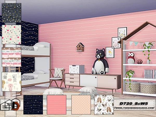 The Sims Resource: Scandinavian wallpapers  set by Danuta720