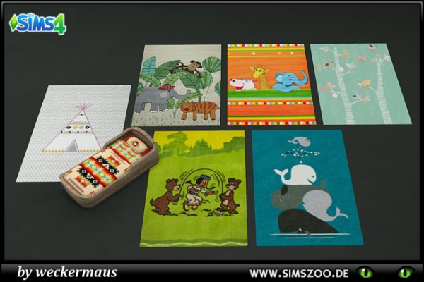 Blackys Sims 4 Zoo: Kids rugs by weckermaus