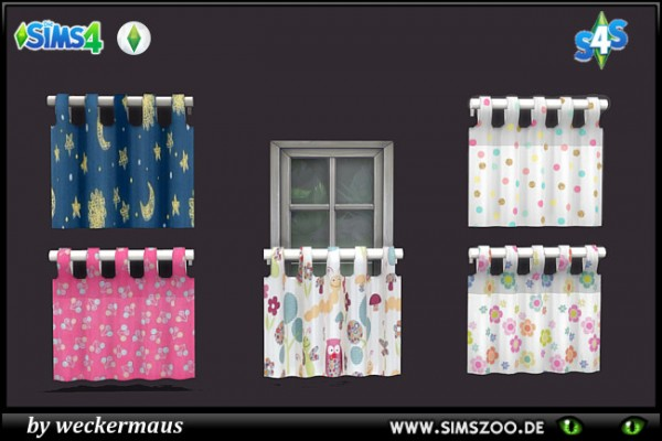 Blackys Sims 4 Zoo: Toddlers Curtains by weckermaus