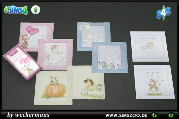 Blackys Sims 4 Zoo: Toddler Rugs by weckermaus