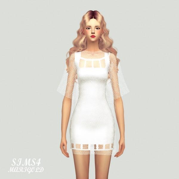 SIMS4 Marigold: Square Mini Dress