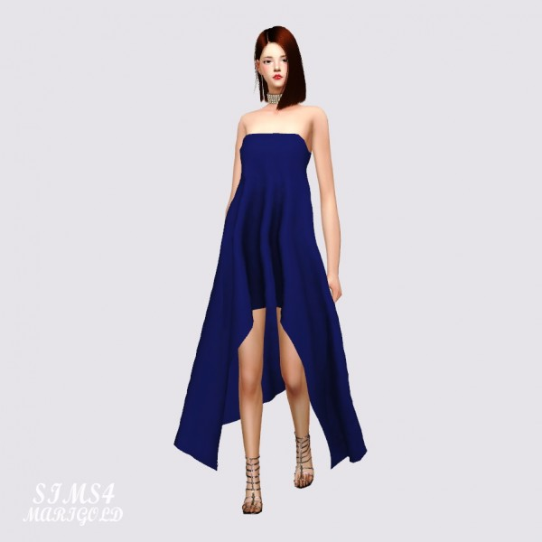 SIMS4 Marigold: Unbalance Line Dress