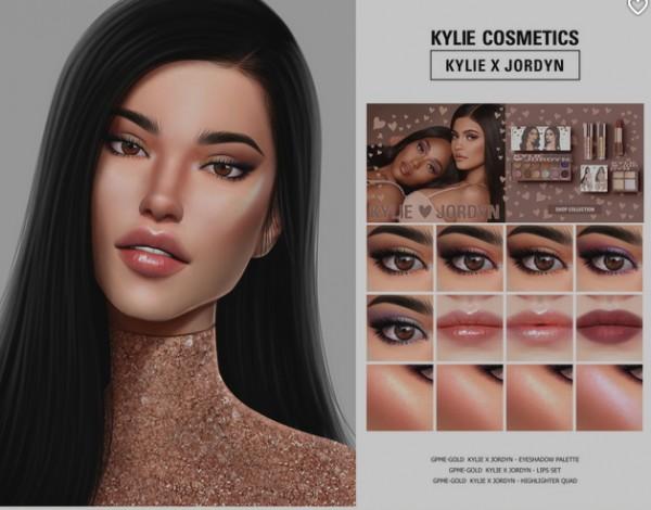 GOPPOLS Me: Gold Kylie X Jordyn lips and eyeshadow