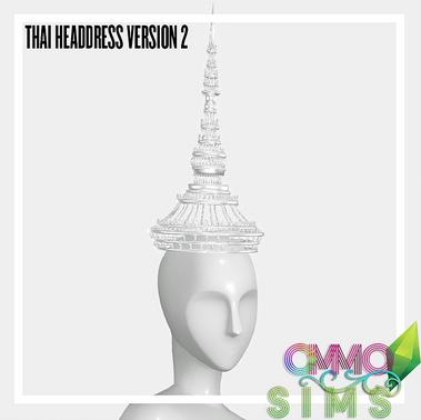 Ommo Sims: Thai Headdress Fashion Versions 2