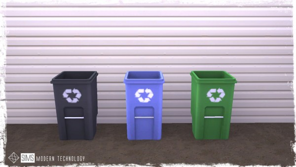 Sims Modern Technology: CanDent Slatted Outdoor Trash Receptacle converted