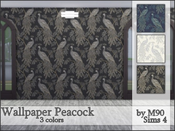 The Sims Resource: Peacock walls by Mircia90