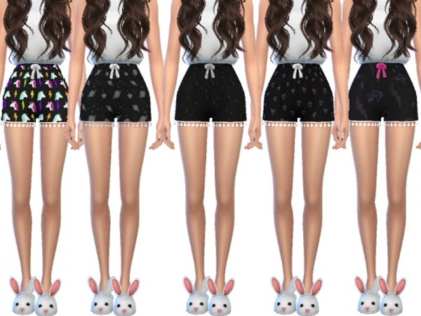 The Sims Resource: Trendy Pajama Shorts by Wicked Kittie