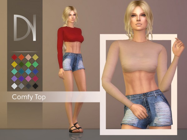 The Sims Resource: Comfy Top by DarkNighTt