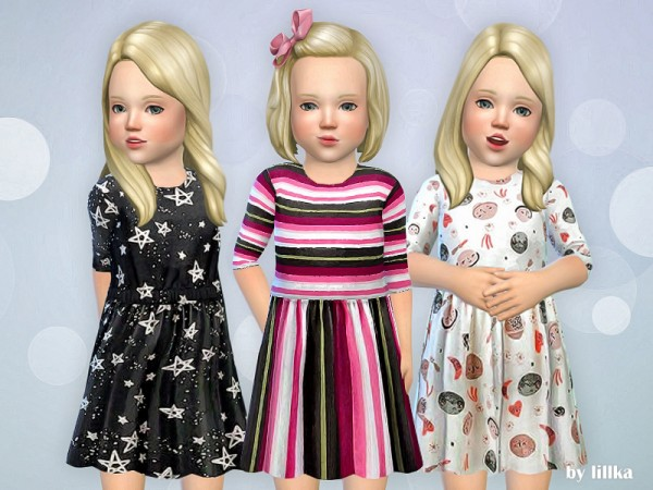 The Sims Resource: Toddler Dresses Collection P73 by lillka