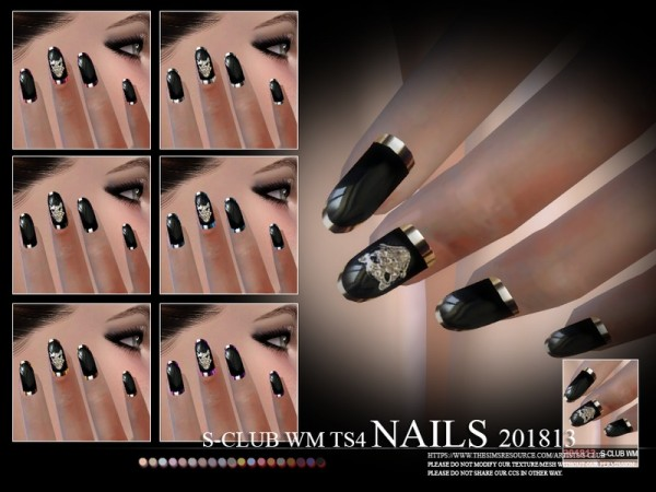 The Sims Resource: Nails 201813 by S Club