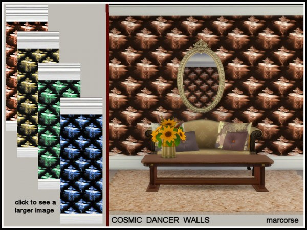 The Sims Resource: Cosmic Dancer Walls by marcorse