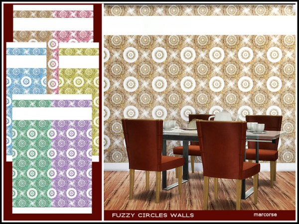 The Sims Resource: Fuzzy Circles Walls by marcorse
