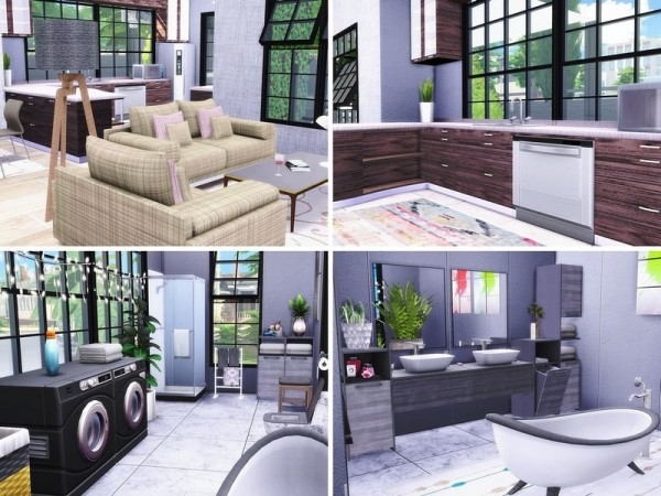 The Sims Resource: Mulberry Lane house by MychQQQ