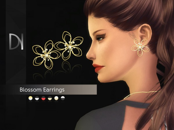 The Sims Resource: Blossom Earrings by DarkNighTt