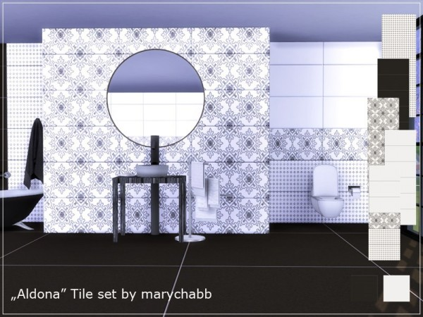 The Sims Resource: Aldona Tile Set by marychabb