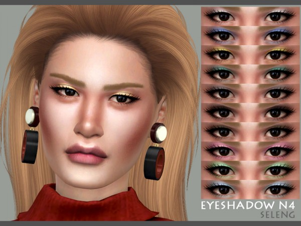 The Sims Resource: Eyeshadow N4 by Seleng