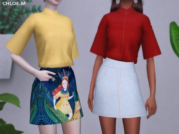 The Sims Resource: ChloeM Mini Skirt by ChloeMMM