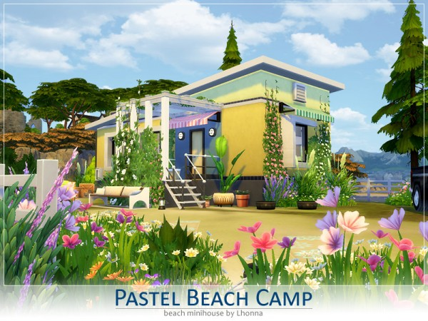 The Sims Resource: Pastel Beach Camp by Lhonna