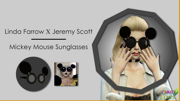 Ommo Sims: Mickey Mouse Sunglasses