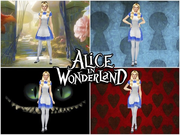 The Sims Resource: Alice in Wonderland CAS Backgrounds by KatVerseCC