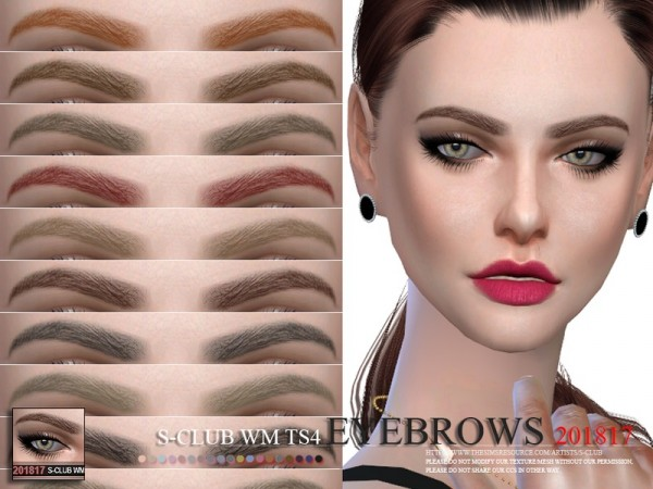 The Sims Resource: Eyebrows 201817 by S Club