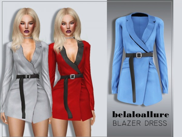 The Sims Resource: Blazer dress by belal1997