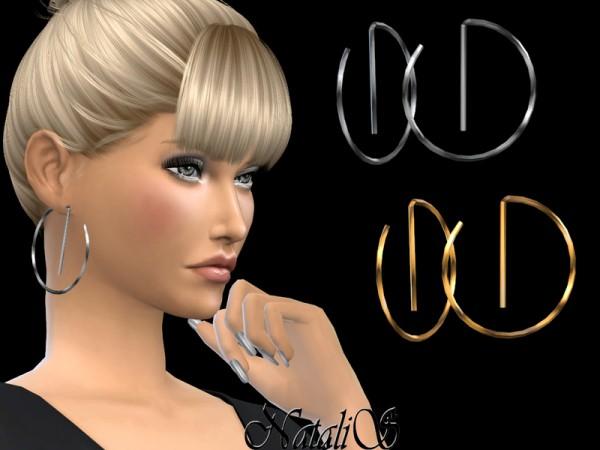 The Sims Resource: Geometric hoop earrings by NataliS