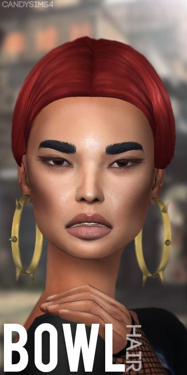 Candy Sims 4: Bowl hair