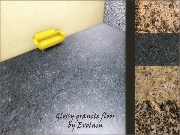 The Sims Resource: Glossy granite floor by Evolain