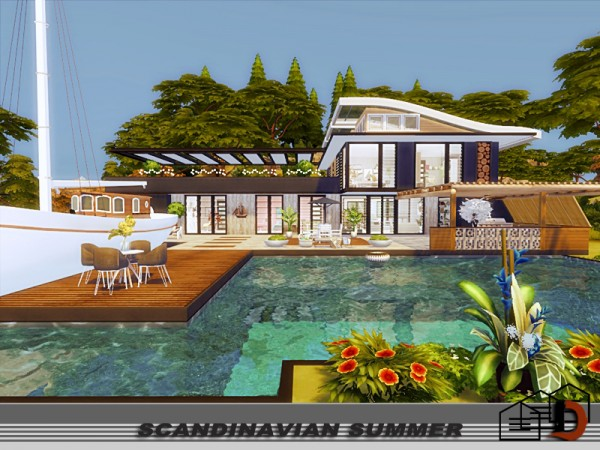 The Sims Resource: Scandinavian summer house by Danuta720