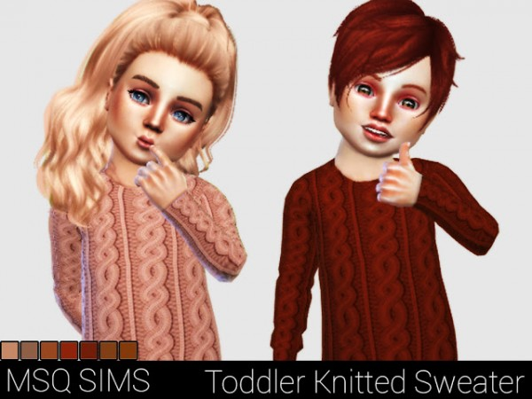 MSQ Sims: Toddler Knitted Sweater