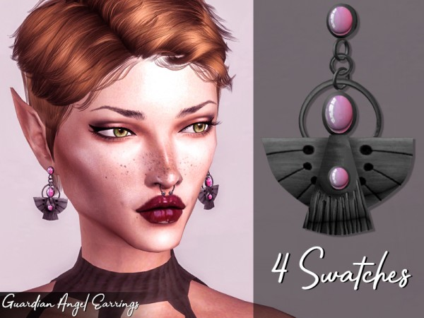 The Sims Resource: Guardian Angel Earrings by Genius666